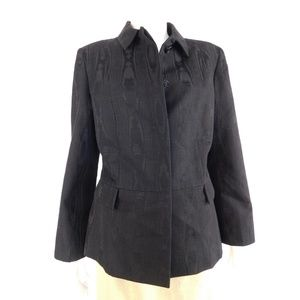 Carolina Herrera Black Wool Blend Blazer Jacket